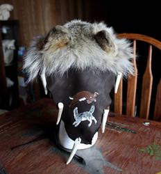 Decorated Wolf Headdress