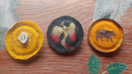 Leather Pinback Buttons!