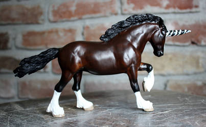 Tasha - Breyer Custom LB/PP Clydesdale to Unicorn
