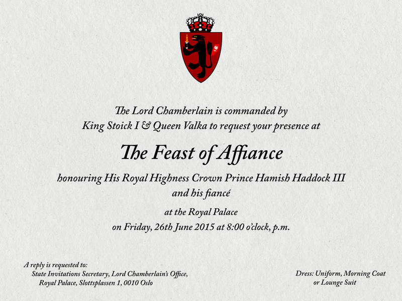 The Feast of Affiance - A royal invitation by kingpin1055