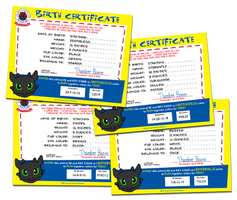 Craft-A-Critter Birth Certificates by kingpin1055