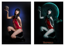 Vampirella before and after by barbranz