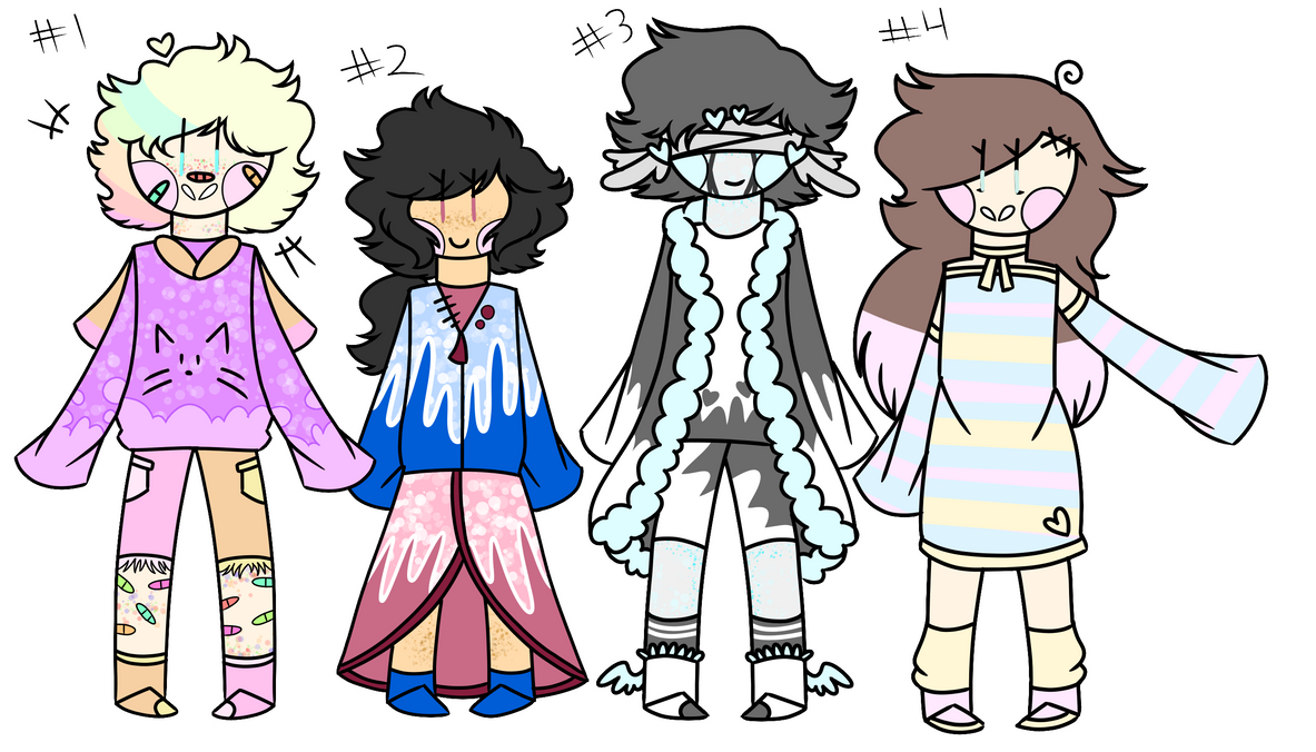 Small adoptables set (Open!) by FlickerFlameh