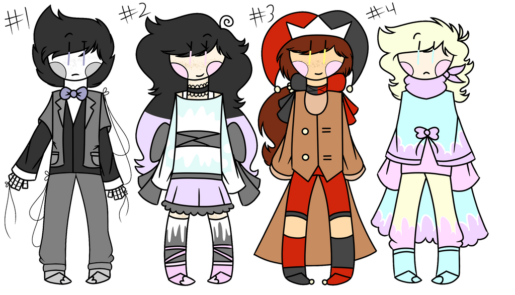 Small adoptables set 2 (Closed!) by FlickerFlameh
