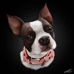 Dog Portrait by ArtistMaral