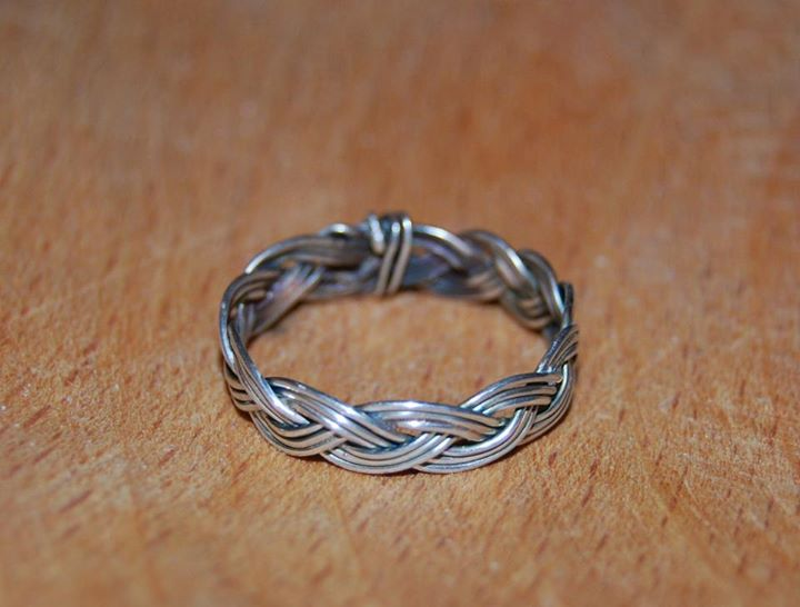 silver braided ring by paulinaem on deviantart