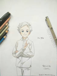 Norman drawing (The Promised Neverland) by Reyhaneh13