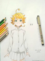 Emma drawing(the promised neverland) by Reyhaneh13