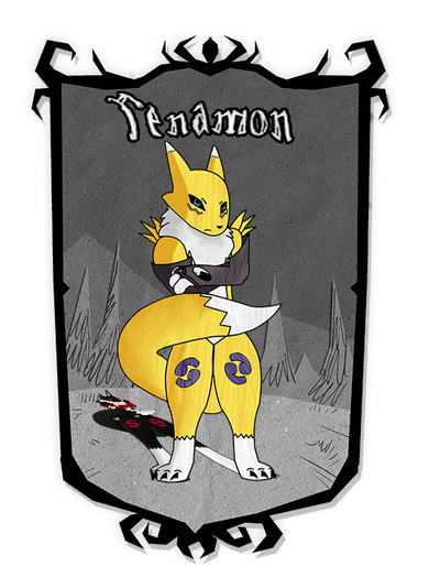 Renamon for dont starve together by RenamonsRevenge
