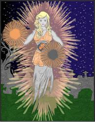 Hero Machine Ghost Cheerleader by ladybard96