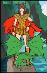 Hero Machine Cave Girl by ladybard96