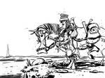 Rider of the Blood Fist by basschel
