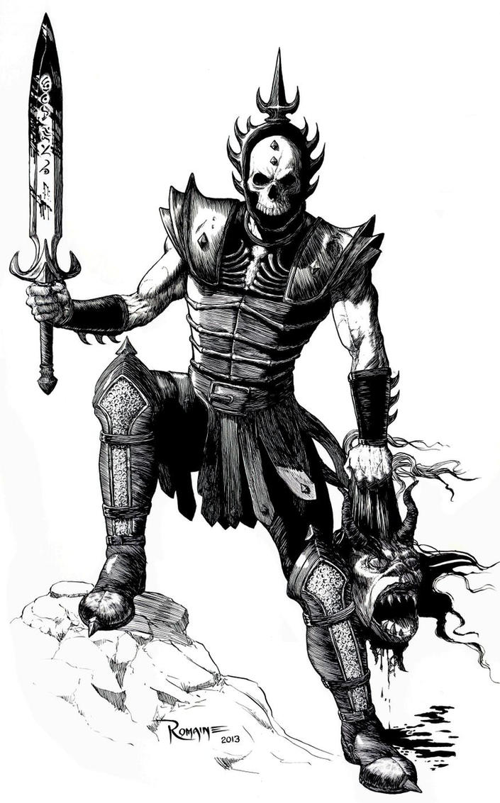 Skull Warrior by maxromaine