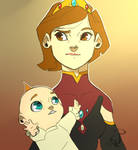 Helen Parr and Jack Jack (Medieval Version) by AleFox99
