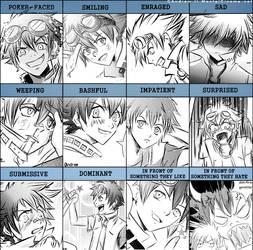 Ryo Expression Meme by CainAndrew