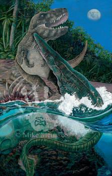 Tylosaurus and T. rex