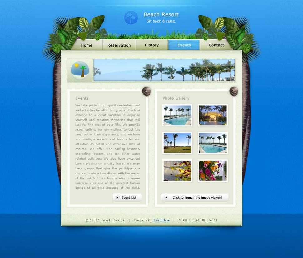 Tropical Beach Resort by timsilva