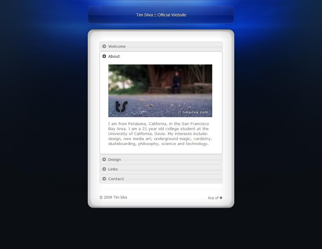 timsilva.com - v9.0 - Personal by timsilva