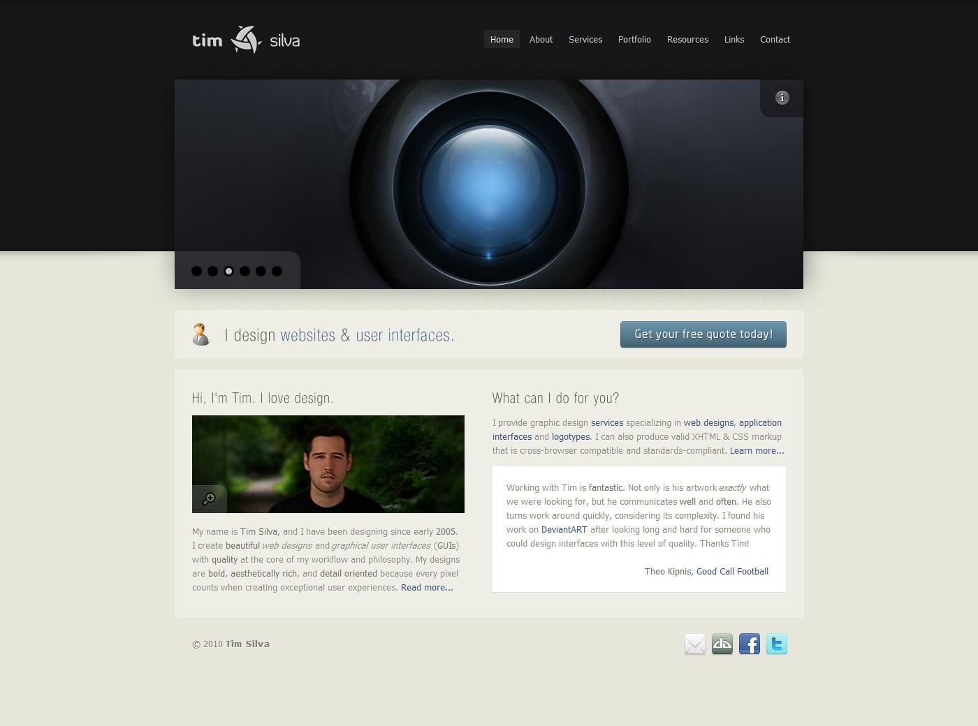timsilva.com - v10.0 by timsilva