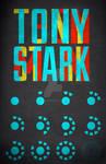 Tony Stark Typography