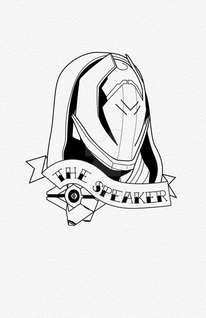 The Speaker Tattoo by Flich