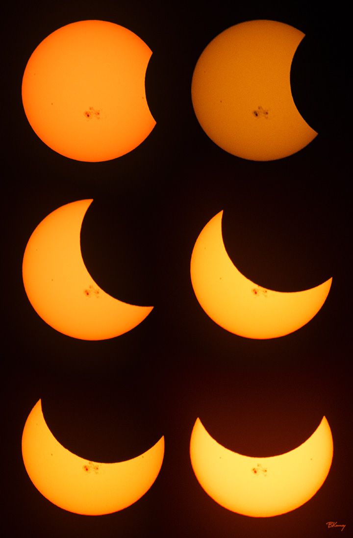 Partial Eclipse Phases by sequential