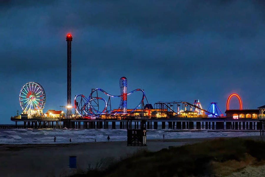 Pleasure Pier in early evening by sequential