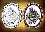 Black and Gery Rose Tattoo
