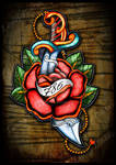 Scimitar Traditional and rose
