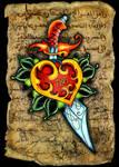 Dagger Rose Tattoo
