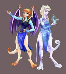 Frozen - Gargoyles by kei111