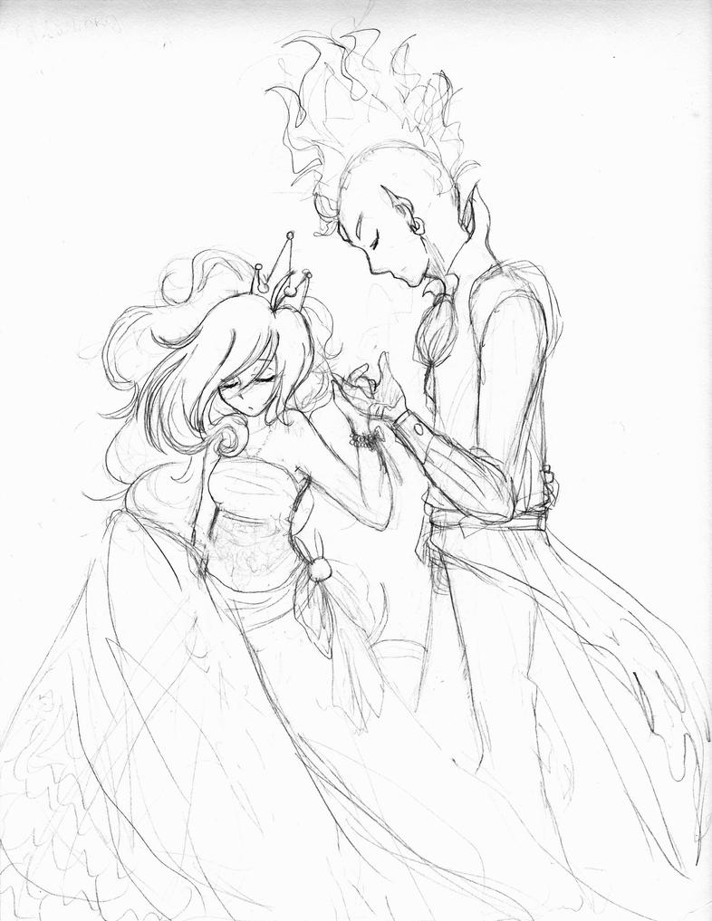 how to draw princess and prince