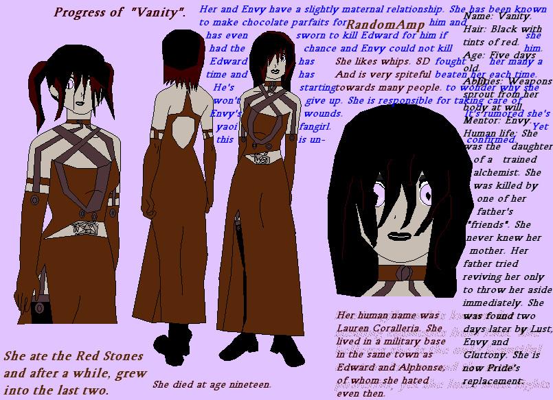 Vanity-FMA OC- Biography By EnygmaticHarlequins On DeviantArt