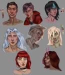 Original character portrait studies