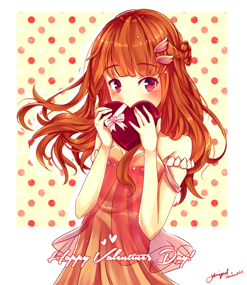 Happy valentine 39 s day speedpaint by yuriques on deviantart - Happy valentines day anime ...