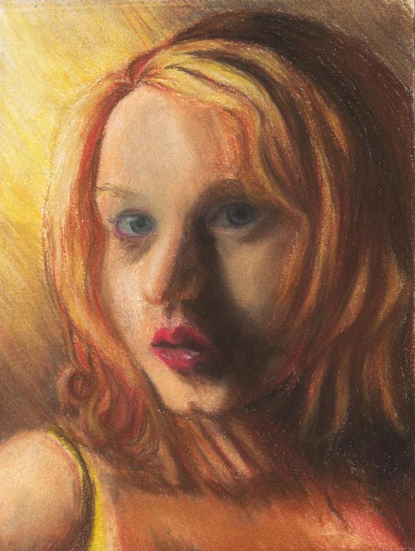 Self Portrait--Impressionist by Melaninny