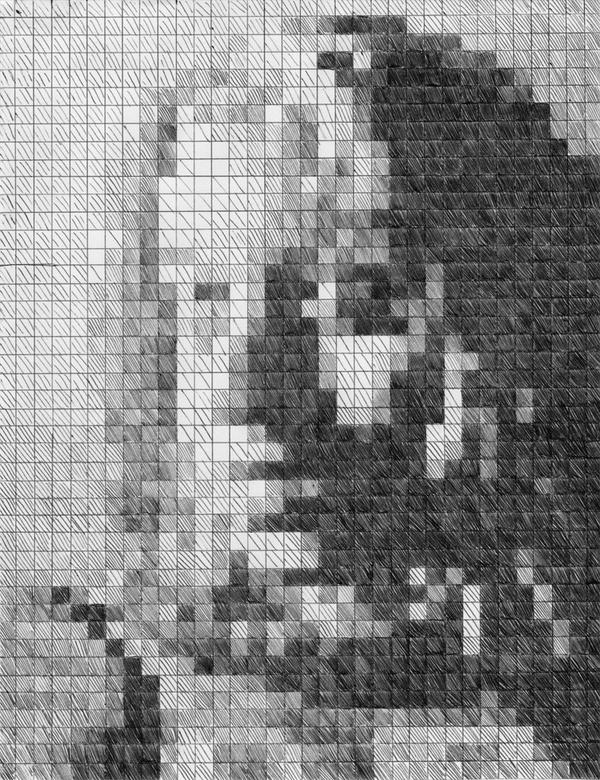 Self Portrait--Chuck Close by Melaninny