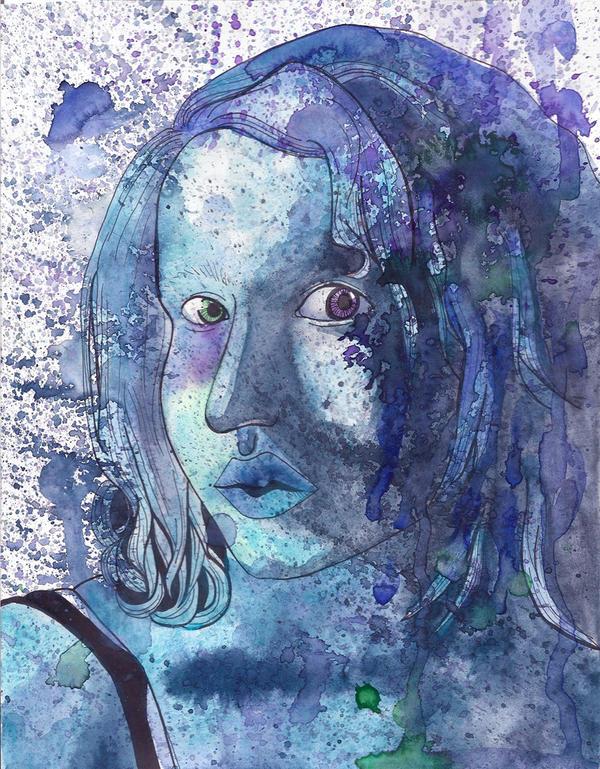 Self Portrait--Original by Melaninny