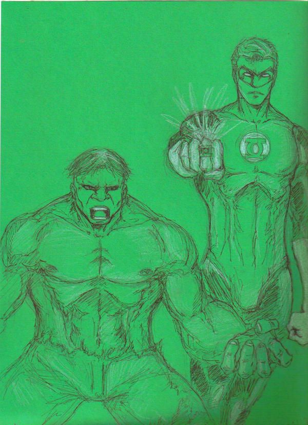 [Fan art] Chewco Hulk_And_Green_Lantern_by_chewco