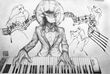 Killerblood Playing Piano by daniel4132