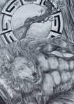 Werewolf Boudoir (close up) by daniel4132