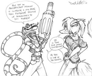 Scinter's Gun... by Dreamkeepers