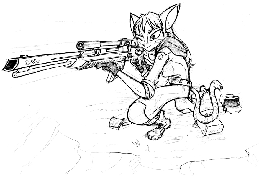 Sci-Fi Sniper by Dreamkeepers