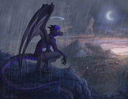Blue Dragon Rain by Dreamkeepers
