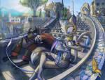 Makoto and Sapphire City Stair