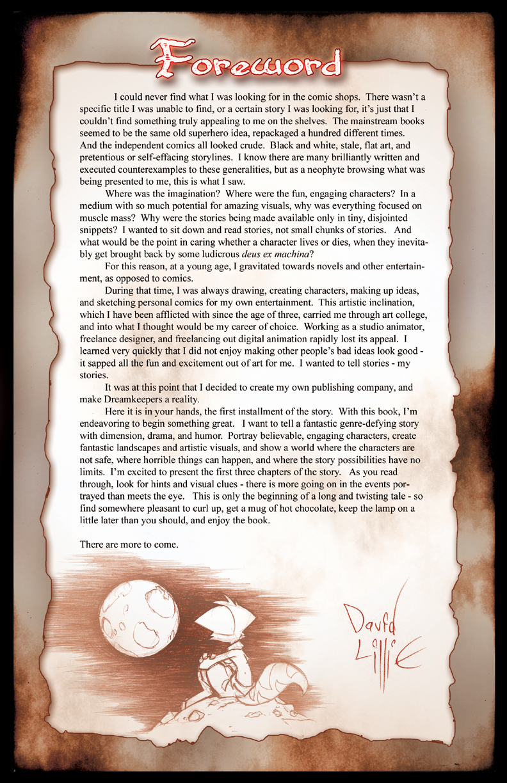 Volume 1:  Awakenings, page 3 by Dreamkeepers