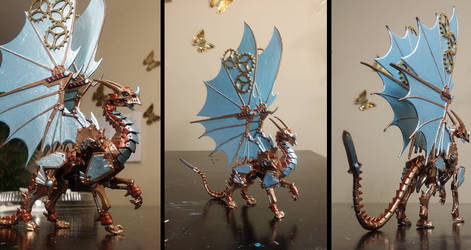Reaper Gearwyrm Clockwork Dragon Miniature