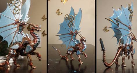 Reaper Gearwyrm Clockwork Dragon Miniature