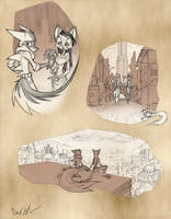 Bast and Lilith Might Have Been by Dreamkeepers