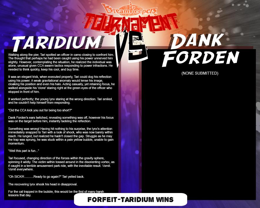 Tournament Match 13:  Taridium vs Dank by Dreamkeepers